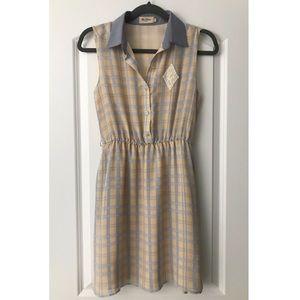 ModCloth Miss Patina Window Pane Plaid Dress